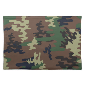 Colorful Camouflage seamless pattern Placemat