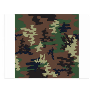 Colorful Camouflage seamless pattern Postcard
