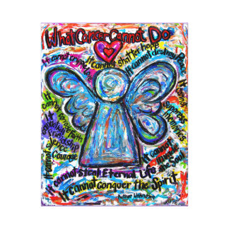 Colorful Cancer Angel Canvas Art Print