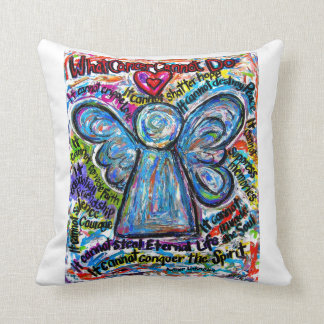 Colorful Cancer Angel Decorative Throw Pillow