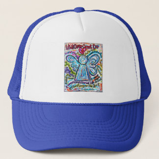 Colorful Cancer Angel Painting Trucker Hat