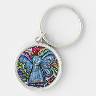 Colorful Cancer Cannot Angel Art Keychain Pendant