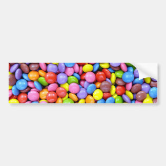 Colorful candies bumper stickers