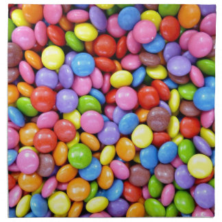 Colorful candies napkin
