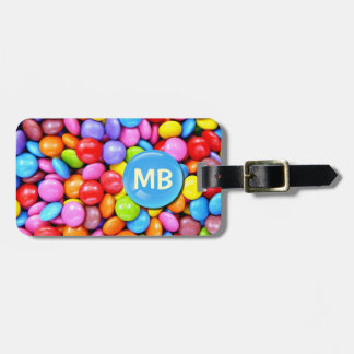 Colorful Candies Personalize Photo Tags For Bags