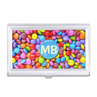 Colorful Candies Personalize Photo Business Card Holders