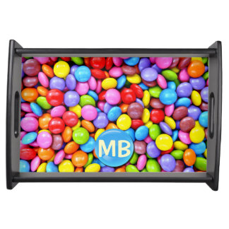 Colorful Candies Personalize Photo Serving Platters
