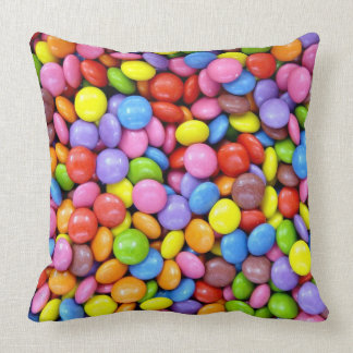 Colorful candies throw pillows