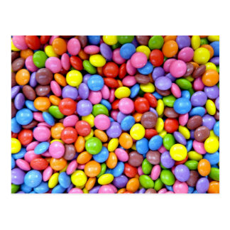 Colorful candies post card