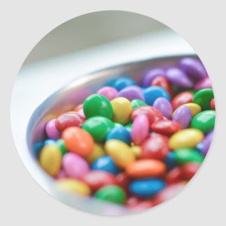 colorful candy classic round sticker