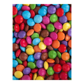Colorful Candy Coated Chocolates Yum! Customized Letterhead