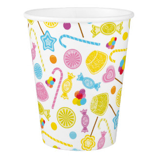 Colorful Candy Lollipop GumDrop Party Supplies Paper Cup