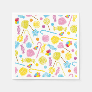 Colorful Candy Lollipop GumDrop Party Supplies Paper Napkin