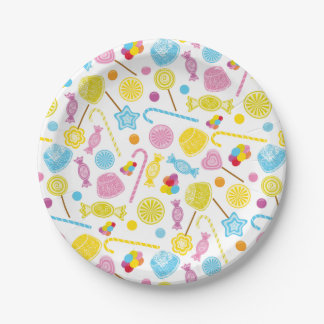 Colorful Candy Lollipop GumDrop Party Supplies Paper Plate