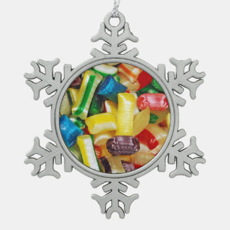 Colorful candy mix christmas ornament