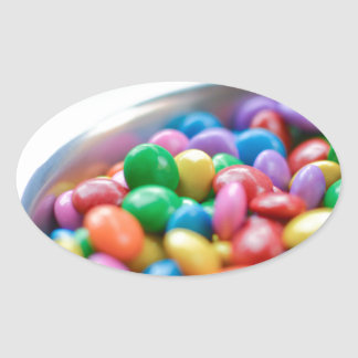 colorful candy oval sticker