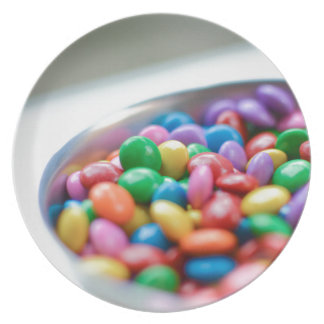colorful candy plate