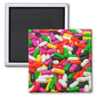 Colorful candy print magnet