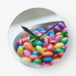 colorful candy round clock