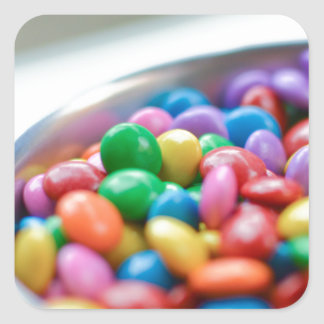 colorful candy square sticker