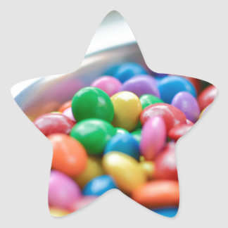colorful candy star sticker