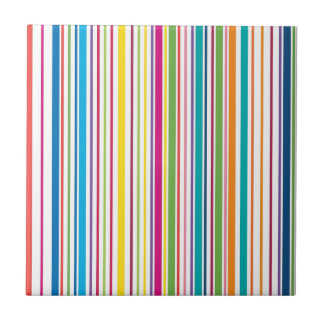 Colorful Candy Stripes Tile