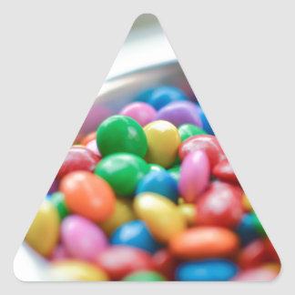 colorful candy triangle sticker