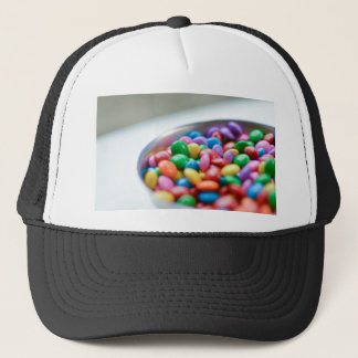 colorful candy trucker hat