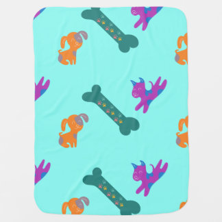 Colorful Canines Baby Blanket