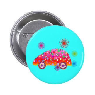 Colorful Car A1a 2 Inch Round Button