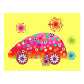 Colorful Car A1a Postcard