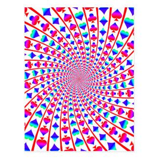 Colorful Card Suits Vortex