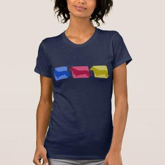 Colorful Cardigan Welsh Corgi Silhouettes T-Shirt