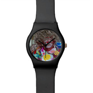 Colorful Carnival Clown Abstract Impressionism Wrist Watches