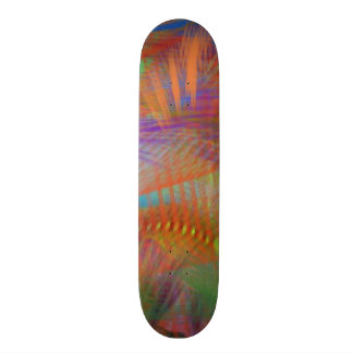 Colorful Carnival Lights Abstract Skate Boards