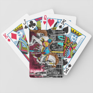 Colorful Carousel Horse at Carnival Poker Deck