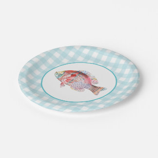 Colorful Carp Paper Plate