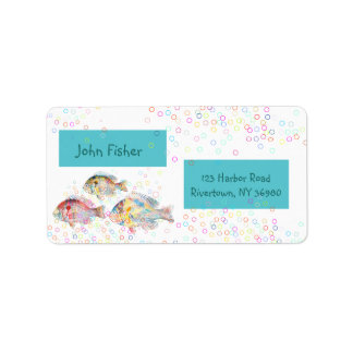 Colorful Carps Label