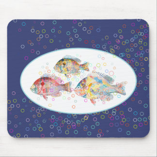 Colorful Carps Mouse Pad