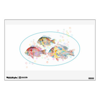 Colorful Carps Wall Decal