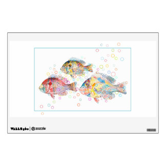 Colorful Carps Wall Sticker