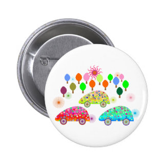 Colorful Cars C1 2 Inch Round Button