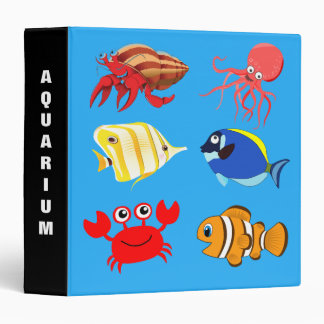 Colorful Cartoon Aquarium fish Binders