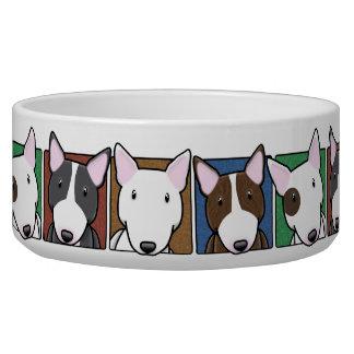 Colorful Cartoon Bull Terriers
