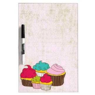Colorful cartoon cupcakes menu dry erase board