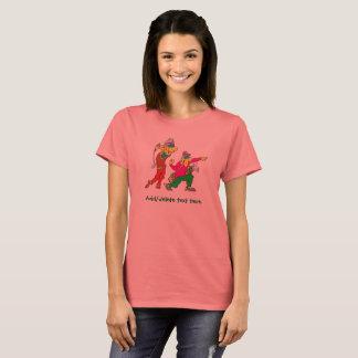 Colorful Cartoon Golfer and Caddie T-Shirt