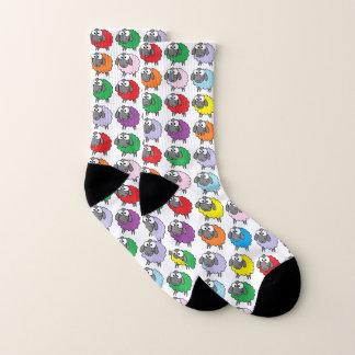 Colorful Cartoon Rainbow Sheep Socks