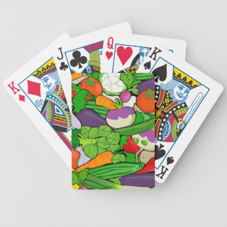 Colorful Cartoon Vegetables Poker Deck
