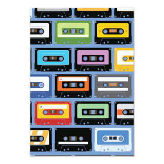 Colorful Cassette Tape Pattern Card