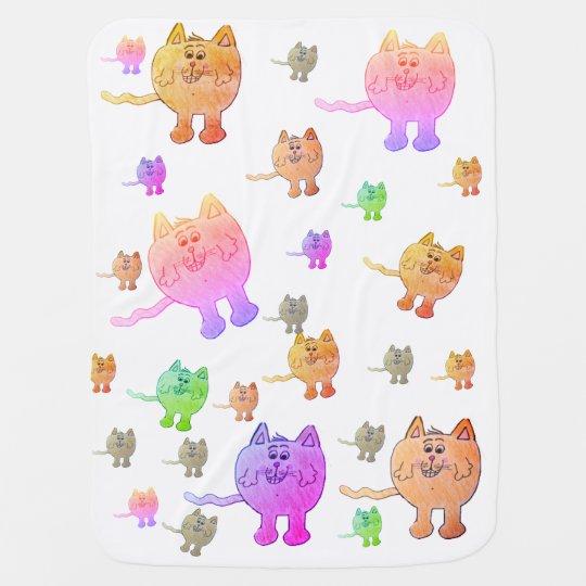 """COLORFUL CAT"" blanket Receiving Blankets"